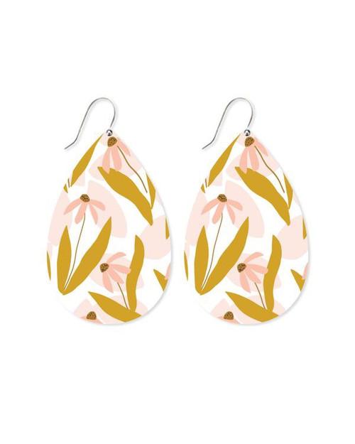 Maguerite Bloom Big Tear Drop Earrings