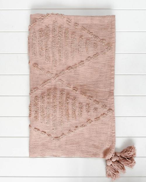 Throw Blanket - Robshaw - Dusty Blush