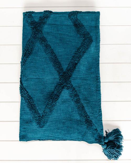 Throw Blanket -Bina - Dark Teal Green