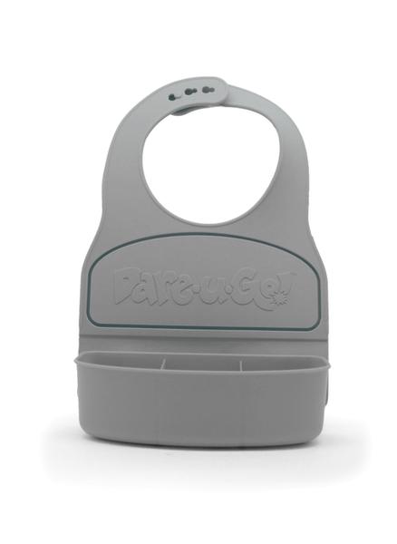 Dareugo travel bib in grey colour