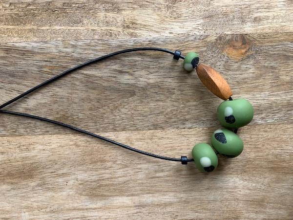 Moss Green Beads