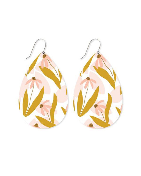 Maguerite Bloom Big Tear Drop Earrings