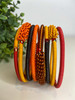 Telephone Wire blended Bracelet   - African Fire