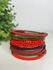 Telephone Wire blended Bracelet   - Chilli