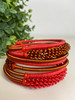 Telephone Wire blended Bracelet   - Red & Copper