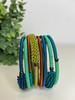 Telephone Wire blended Bracelet   - Wallpaper Green