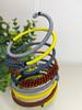 Telephone Wire blended Bracelet   - Indigo Lemon