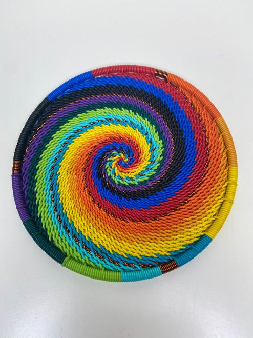 Telephone Wire Coaster - Full Rainbow