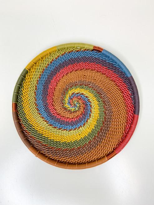 Telephone Wire Coaster - Earthy Rainbow