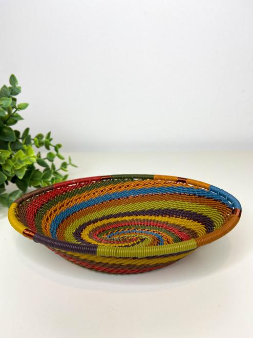 Telephone Wire Trinket Dish - Earthy Rainbow