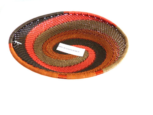 Telephone Wire Trinket Dish - African Peach