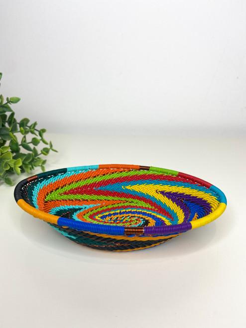 Telephone Wire Trinket Dish - Full Rainbow