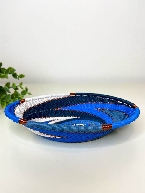 Telephone Wire Trinket Dish - African Sky