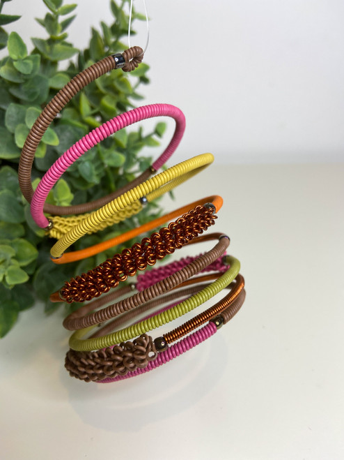 Telephone Wire blended Bracelet - Autumn Leaves