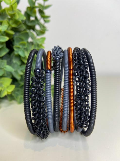 Telephone Wire blended Bracelet - Midnight