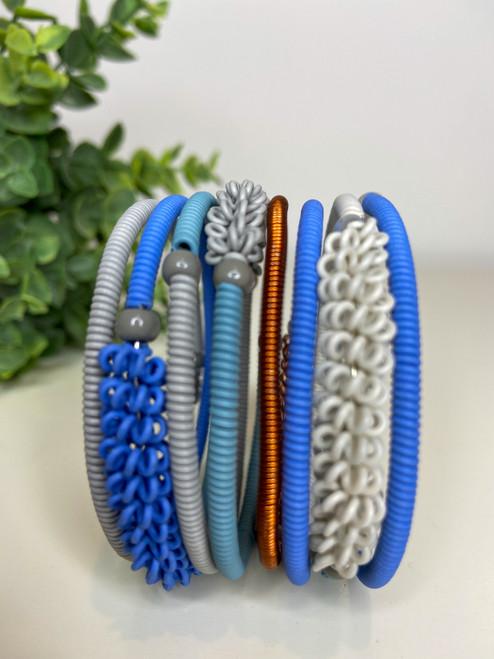 Telephone Wire blended Bracelet - Vintage Blue