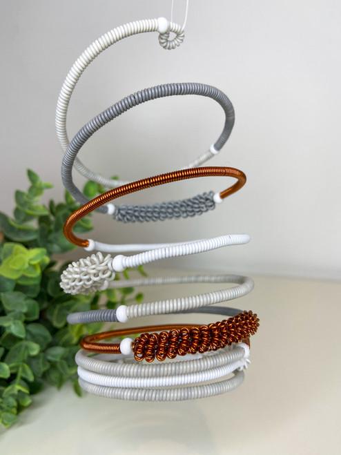Telephone Wire blended Bracelet  - Off White