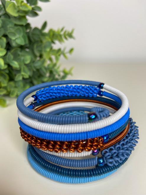 Telephone Wire blended Bracelet  - African Sky