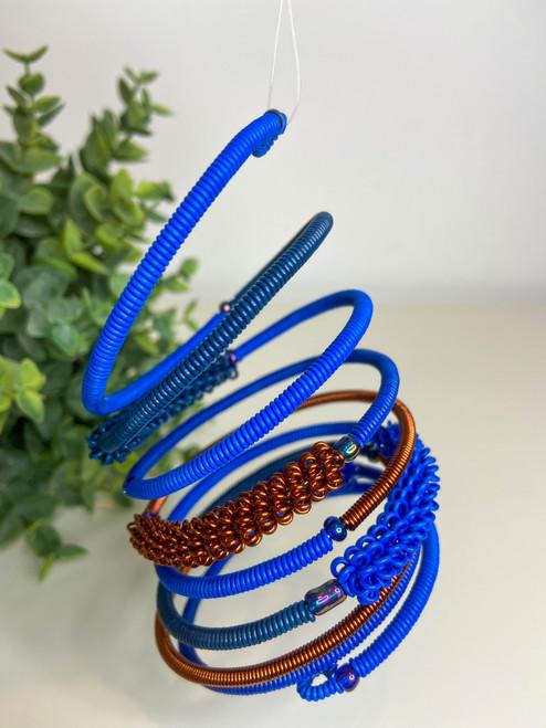 Telephone Wire blended Bracelet  - Blue Tones
