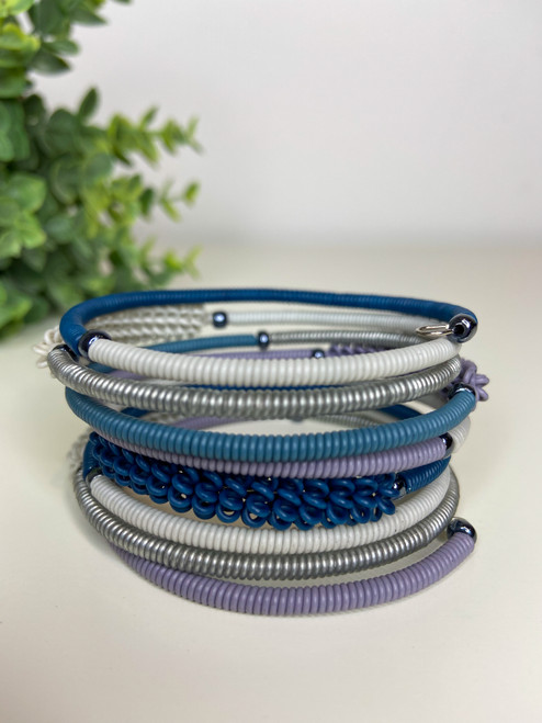 Telephone Wire blended Bracelet   - African Winter