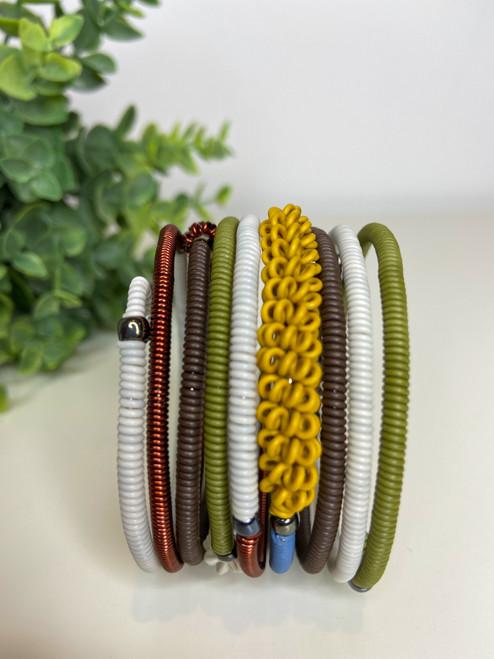 Telephone Wire blended Bracelet    - Mountain Rainbow
