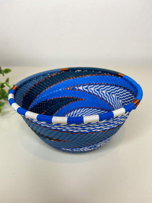 Telephone wire Small Deep Bowl - African Sky