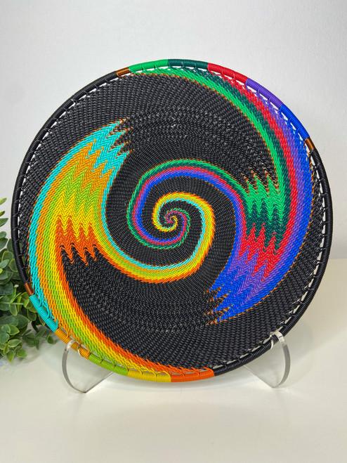 Medium Open-V Plate - African Rainbow