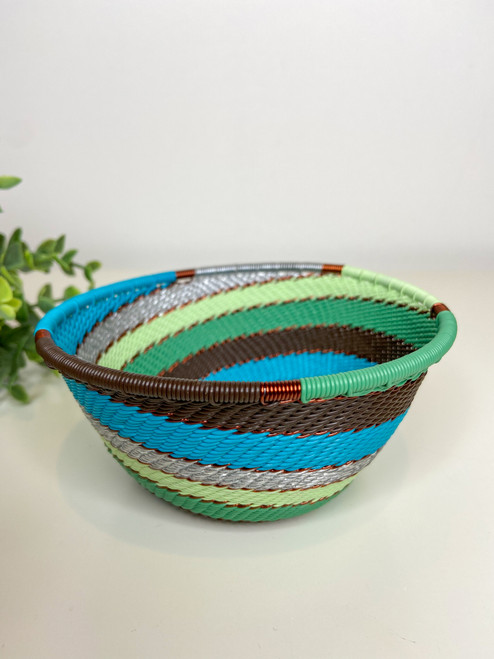 Telephone wire Small Deep Bowl - African Fern