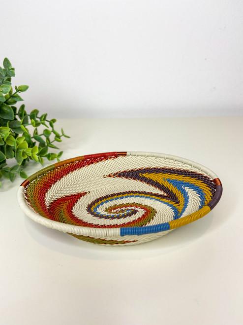 Telephone Wire Trinket Dish - Mountain Rainbow