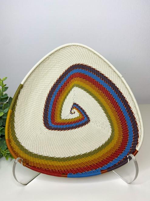 Telephone wire Triangle Plate -  Mountain Rainbow