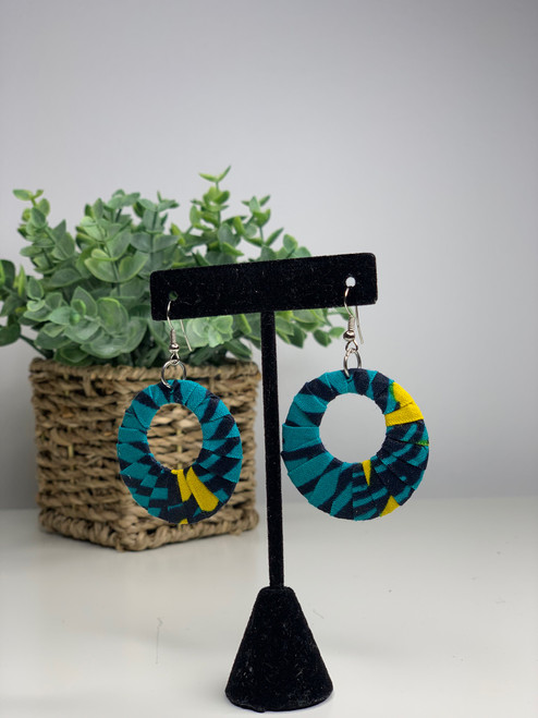 Ankara African Earrings - 001