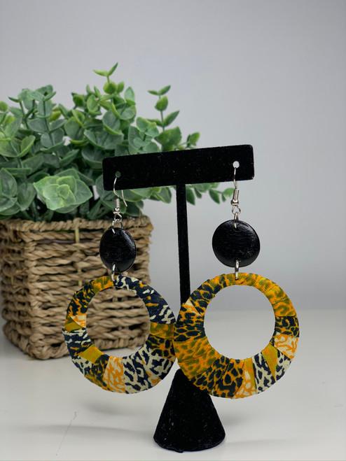Ankara African Earrings - 003