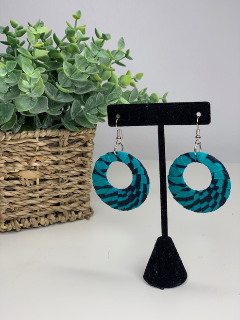 Ankara African Earrings - 004