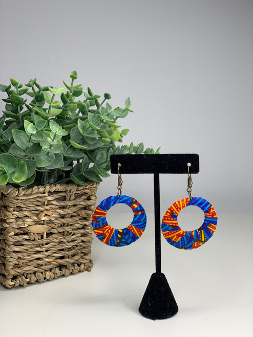 Ankara African Earrings - 007