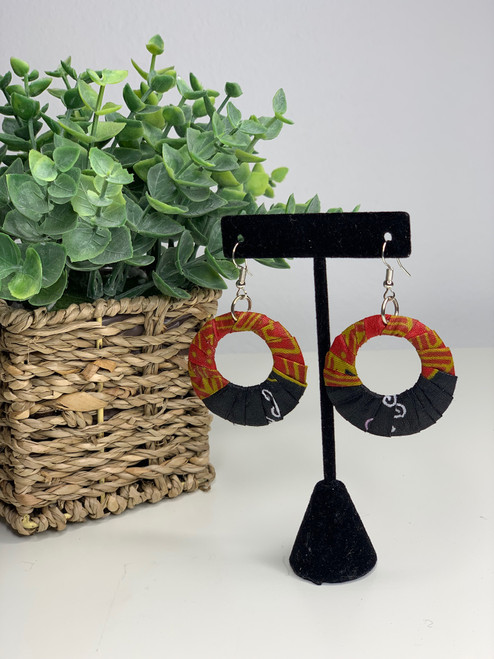 Ankara African Earrings - 008