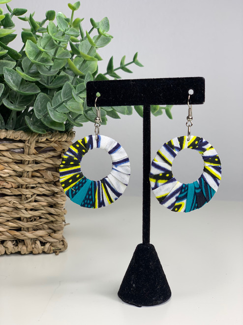 Ankara African Earrings - 009