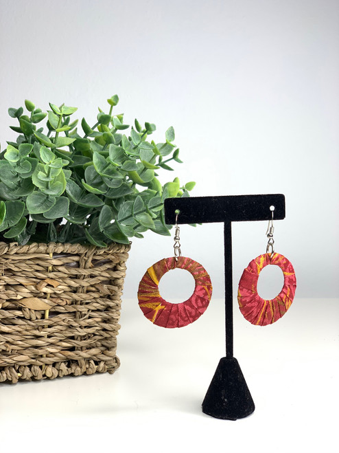 Ankara African Earrings - 010