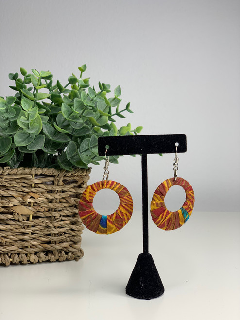 Ankara African Earrings - 011