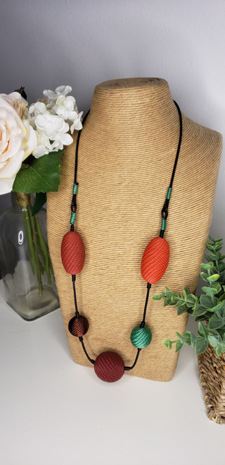 Telephone wire Necklace - Chilli w/ copper