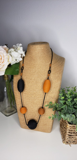 Telephone wire Necklace - Lava