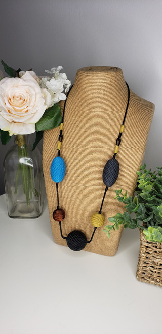 Telephone wire Necklace- Storm w/ copper