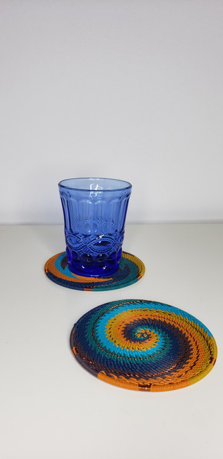 Telephone Wire Coaster - Kingfisher