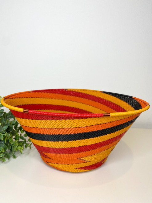 Telephone Wire Large Half Cone - African Fire