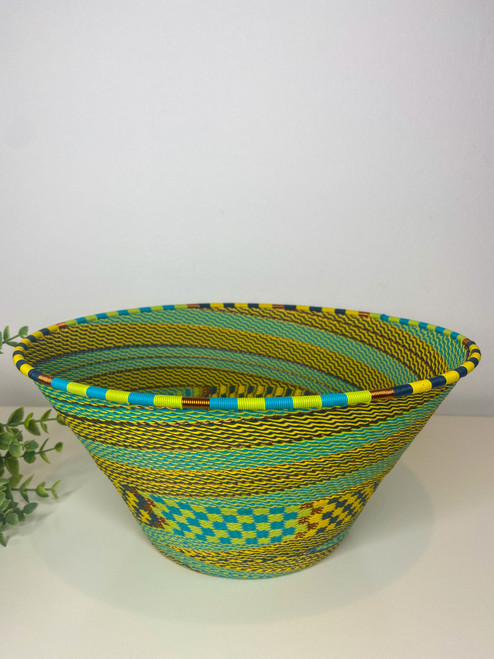Telephone wire Large  Half Cone - Bohemian Blue