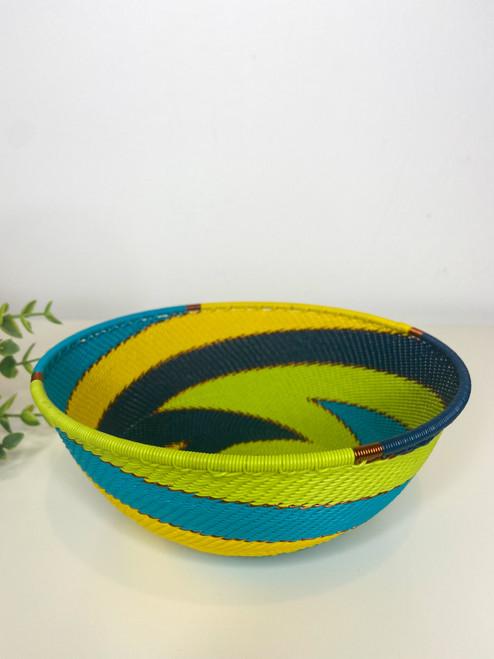 Telephone wire Medium Bowl - Bohemian Blue