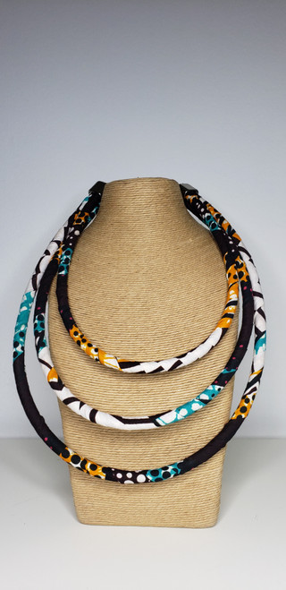 Kitenge Bib Necklace - 001