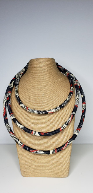 Kitenge Bib Necklace - 003