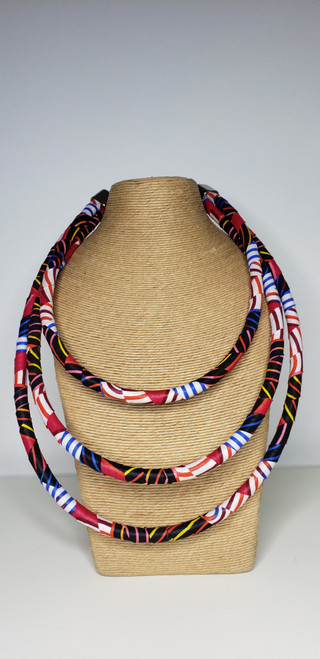 Kitenge Bib Necklace - 004