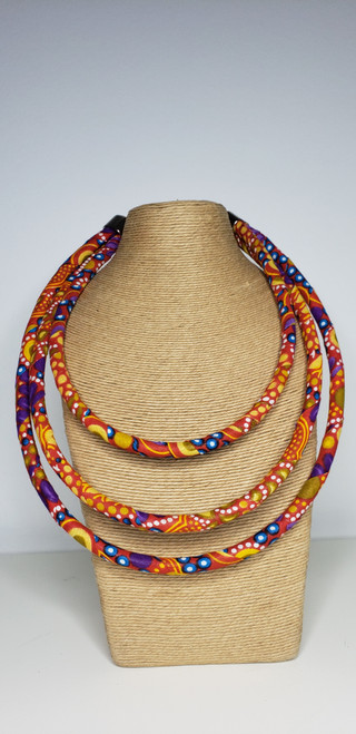 Kitenge Bib Necklace - 005