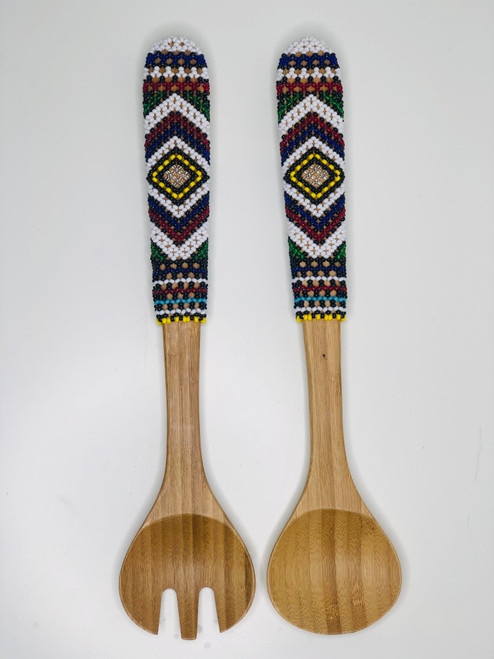 Hand-carved Bamboo Beaded Sand Servers - 008